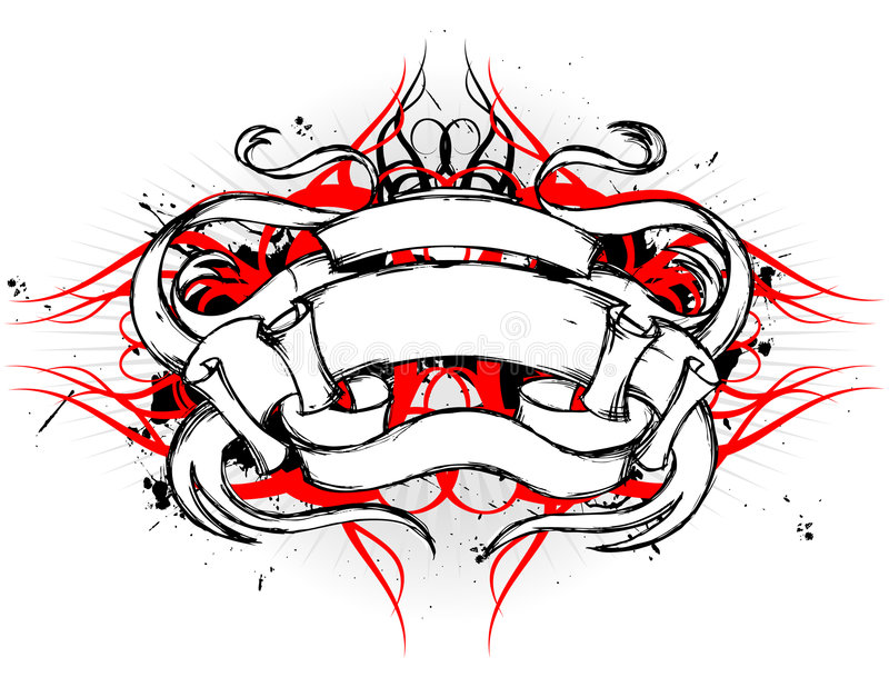 Tribal Scroll Design vector illustration