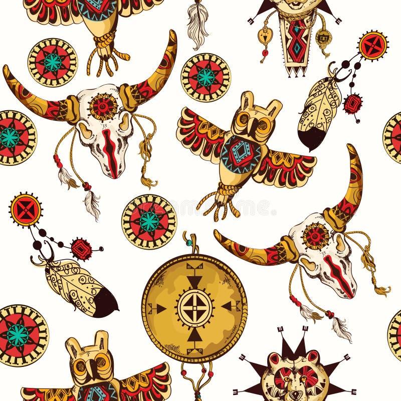 Tribal seamless background royalty free illustration