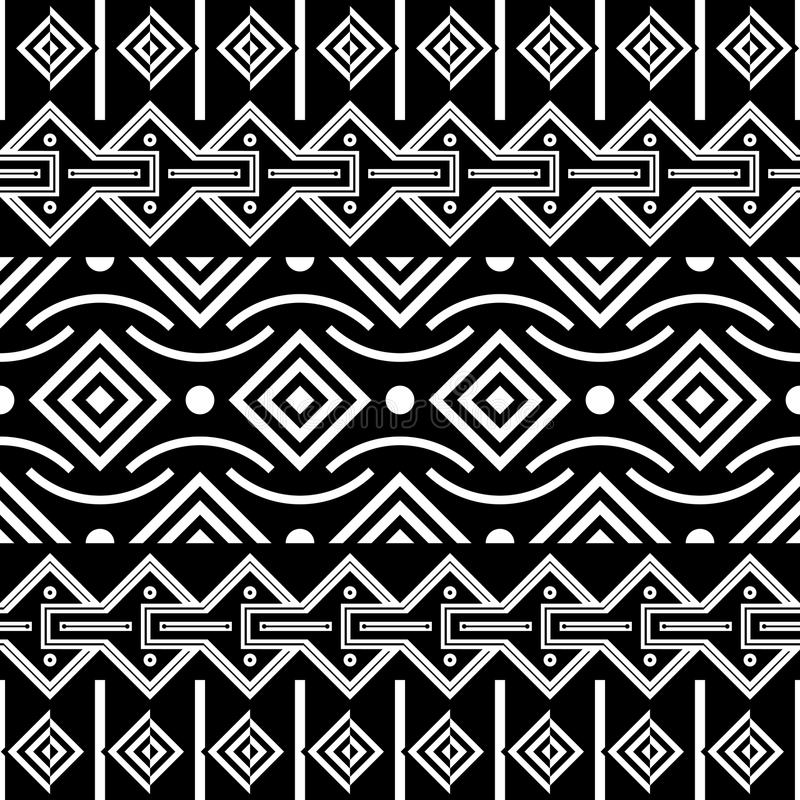 Tribal Seamless Pattern. Ethnic Vector Background vector illustration