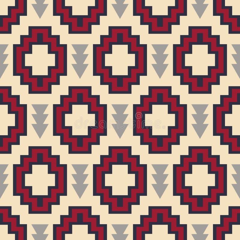 Tribal southwestern native american navajo seamless pattern royalty free illustration