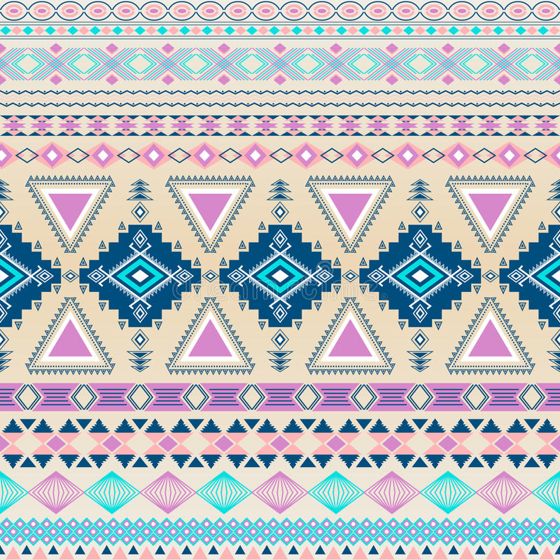Tribal striped seamless pattern. royalty free illustration