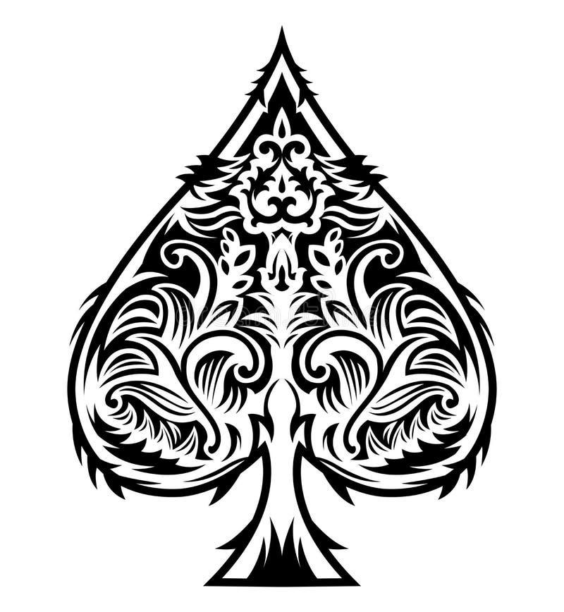 fancy spade card symbol  Fancy Spade Stock Illustrations – 7 Fancy Spade Stock ...