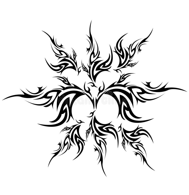 Tribal tattoo royalty free illustration
