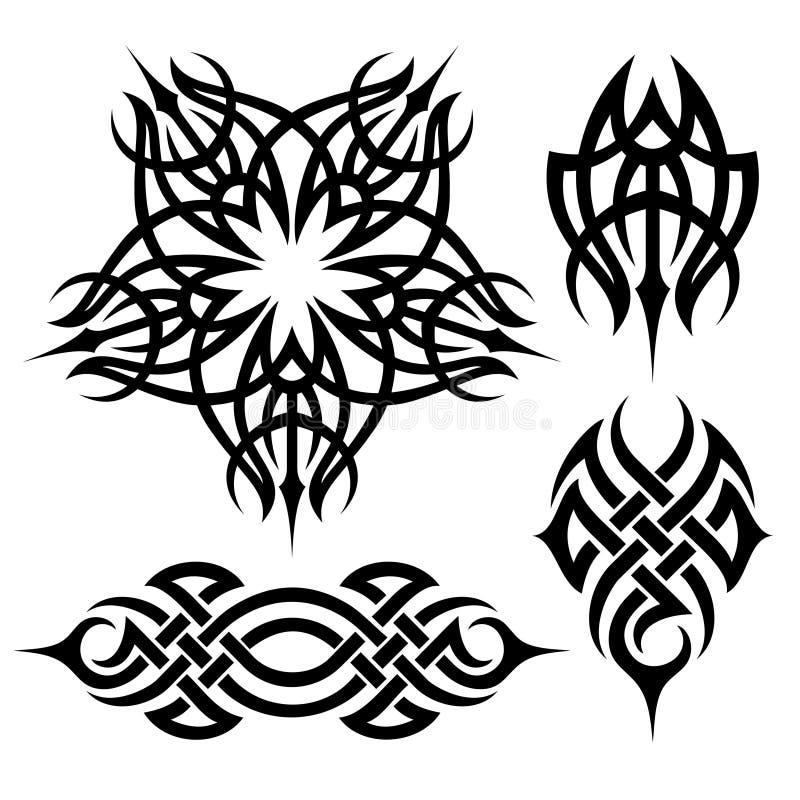 Tribal_tattoo ilustração do vetor