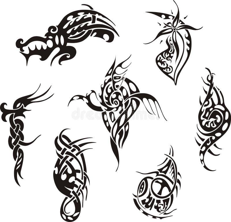 tribal tattoo designs stock vector illustration of lines 27143277. Black Bedroom Furniture Sets. Home Design Ideas