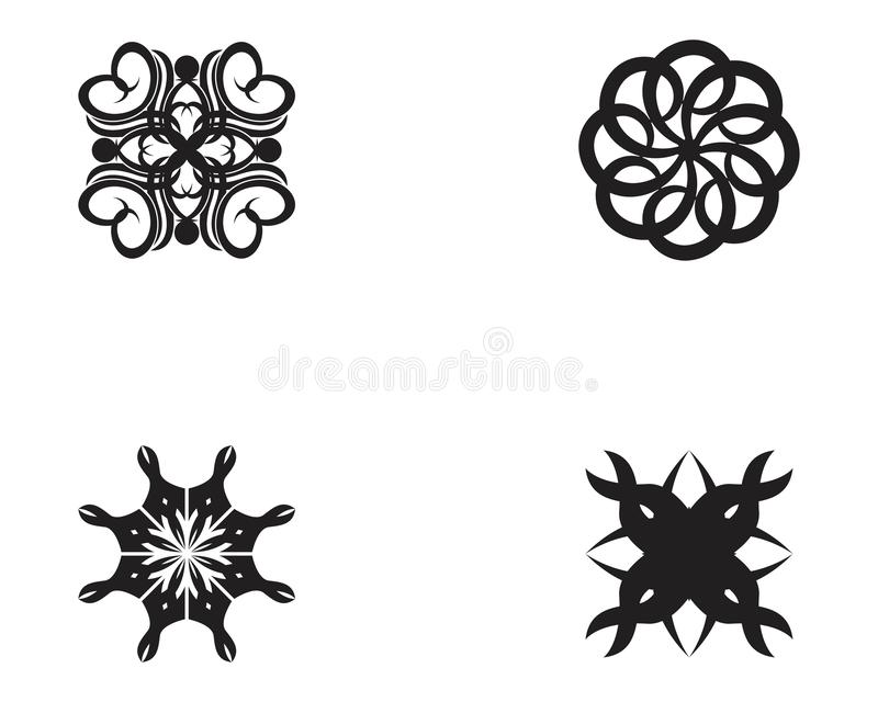 Tribal tattoo icon template. Black pattern art vector design isolated background abstract swirl illustration white african celtic sleeve vintage element vector illustration