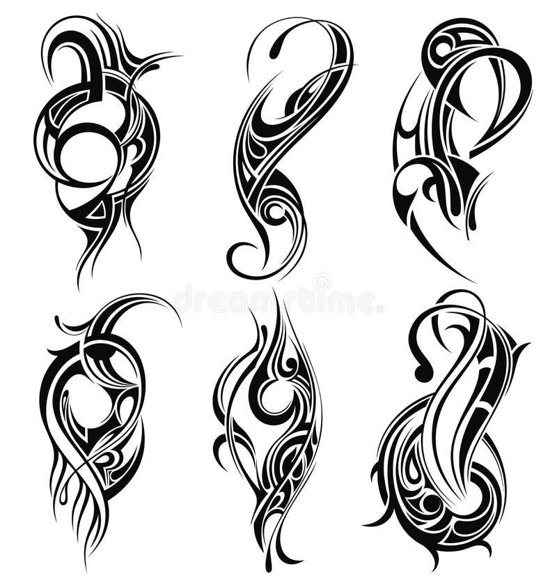 Tribal tattoo set royalty free illustration