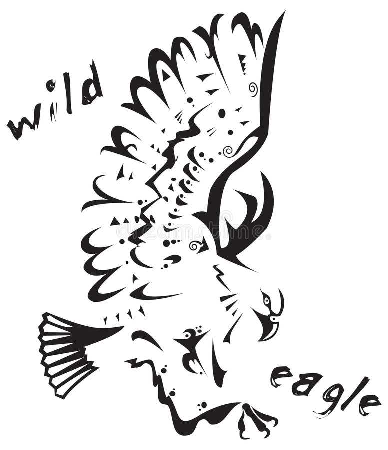 Download Tribal tattoo - Wild eagle stock vector. Illustration of design - 7092985