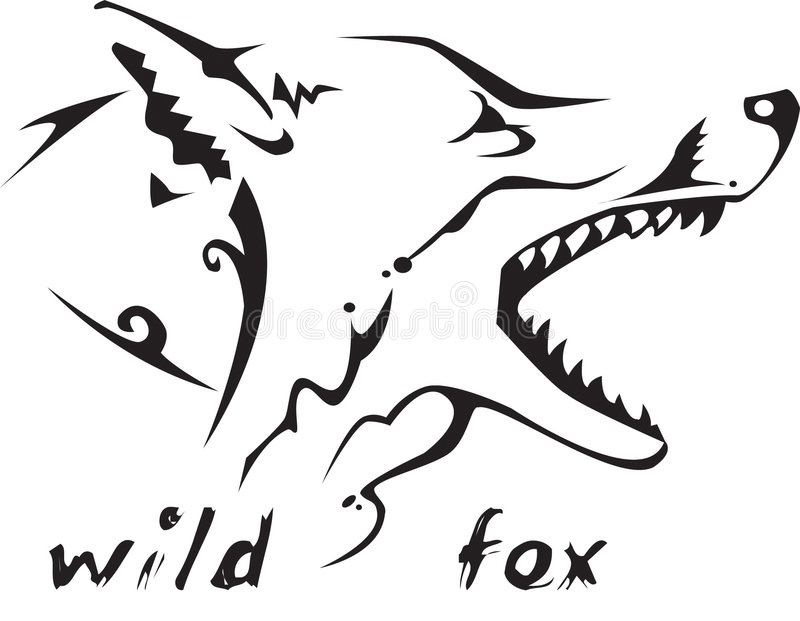 Download Tribal tattoo wild fox stock vector. Illustration of graphic - 7091177