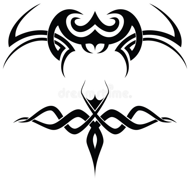 Tribal tattoos vector illustration