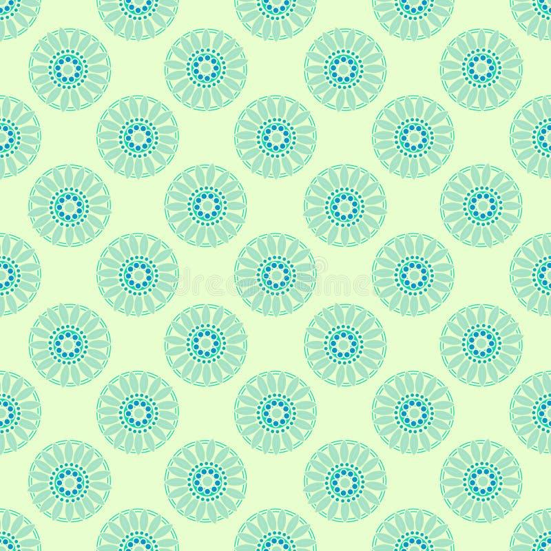 Tribal texture geometric figures seamless pattern stock illustration