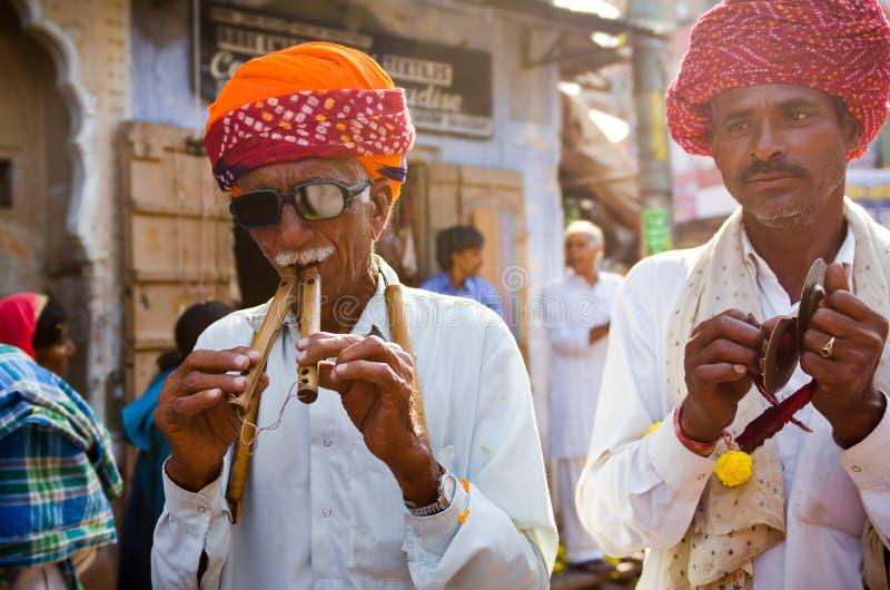 Tribal Turban Men At Pushkar Camel Fair, Rajasthan, India royalty free stock photography