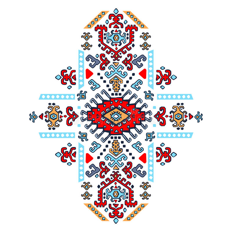 Tribal vector ethnic Mexican, African ornament. Mexican and African Vector Tribal ethnic ornament stock illustration