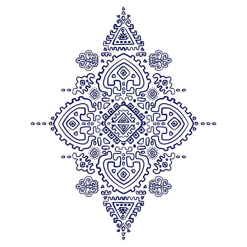 Tribal vector ethnic Mexican, African ornament. Mexican and African Vector Tribal ethnic ornament royalty free illustration