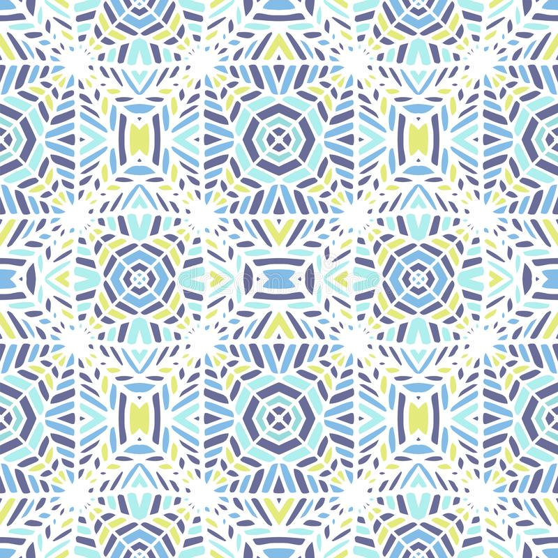 Vector illustration. Seamless African pattern. Ethnic carpet with chevrons and triangles. royalty free illustration
