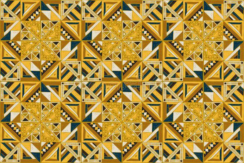 Tribal vector ornament. Seamless African pattern. Ethnic design on the carpet. Aztec style. vector illustration