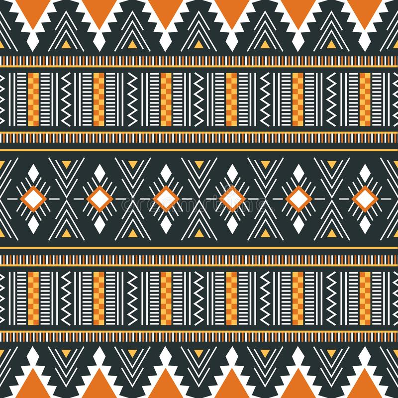 Tribal vector ornament. Seamless African pattern. Vector illustration for print, textile design and background. stock photo