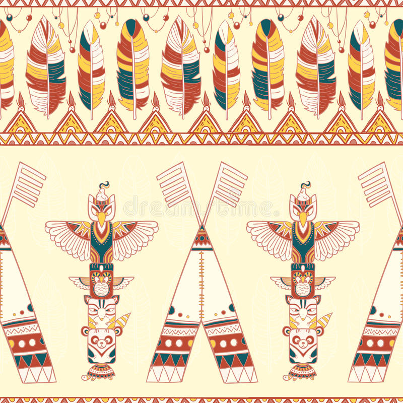Free Tribal Vector Pattern Stock Photography - 50457612