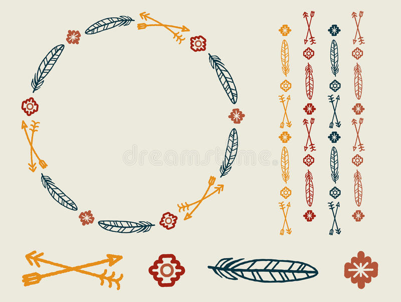 Tribal Vector Set stock photo