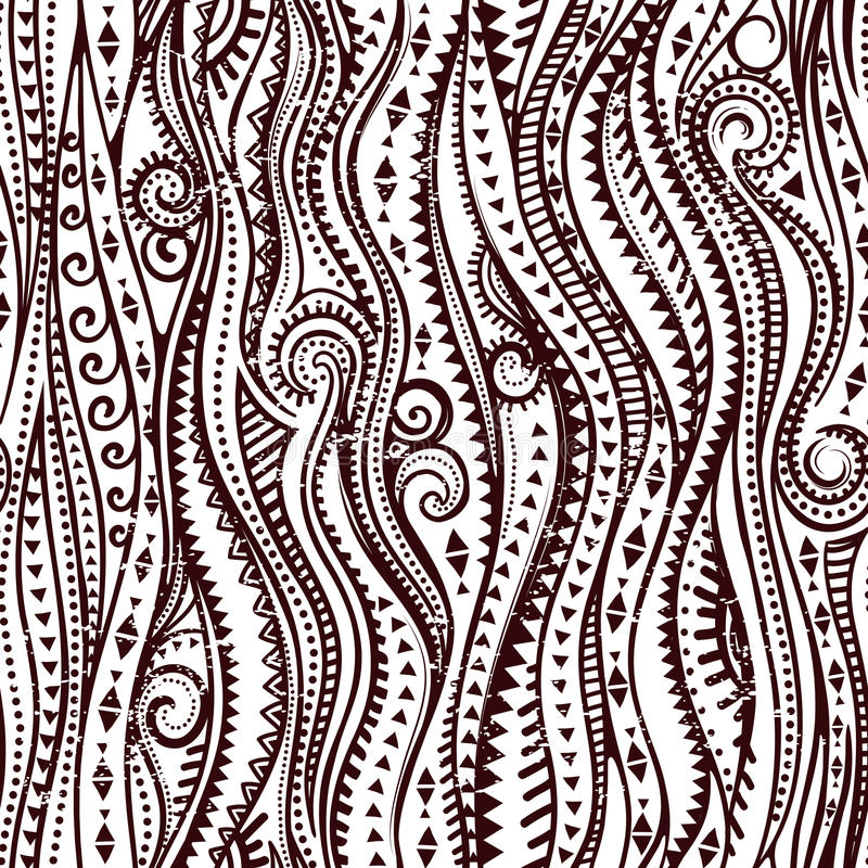 Download Tribal Vintage Ethnic Pattern Seamless Stock Vector - Image: 35739745