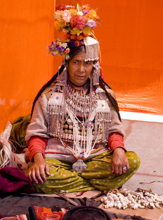 A tribal woman royalty free stock photography