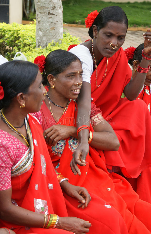 Tribal women, India royalty free stock images