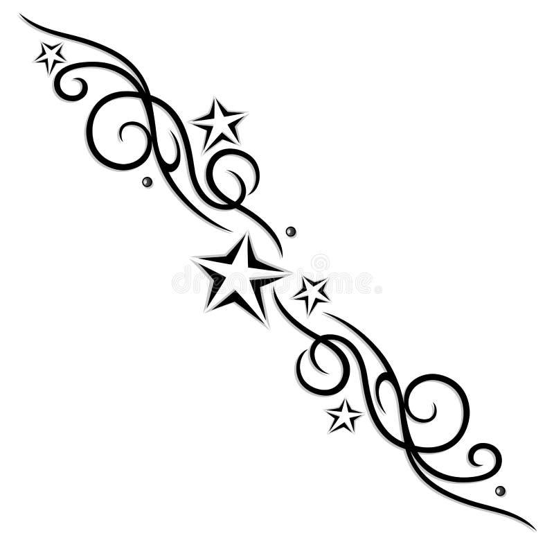 Tribale, tatuaggio, stelle royalty illustrazione gratis