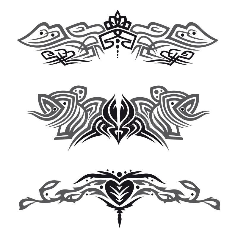 Tribals, tatuajes, sistema libre illustration