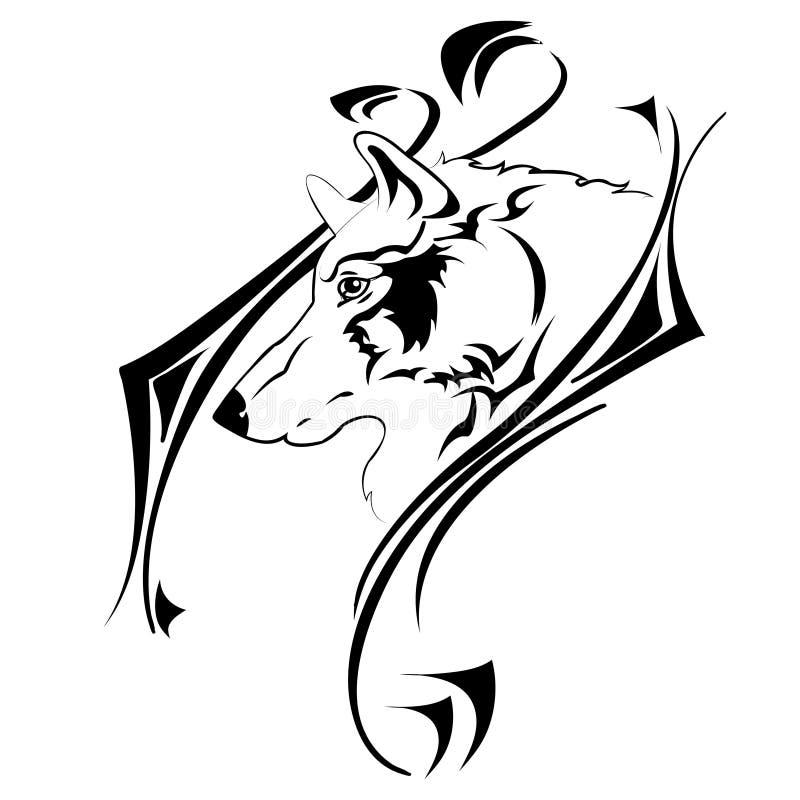 Tribalwolf стоковые изображения rf