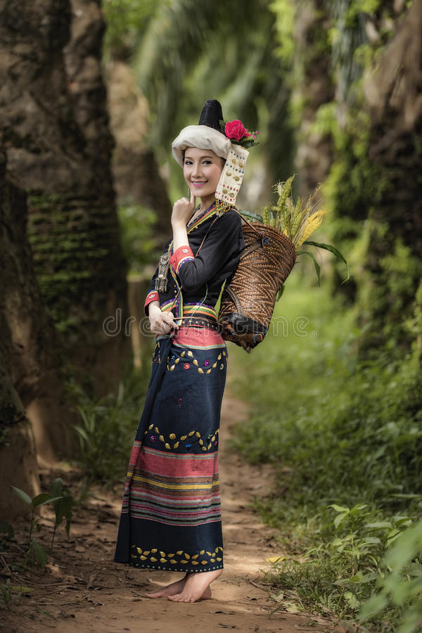 Tribe. In beautiful costume dress,beautiful  girl stock photo