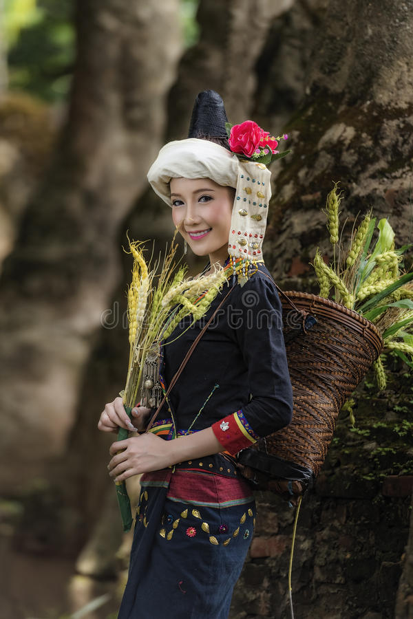 Tribe. In beautiful costume dress,beautiful  girl stock image