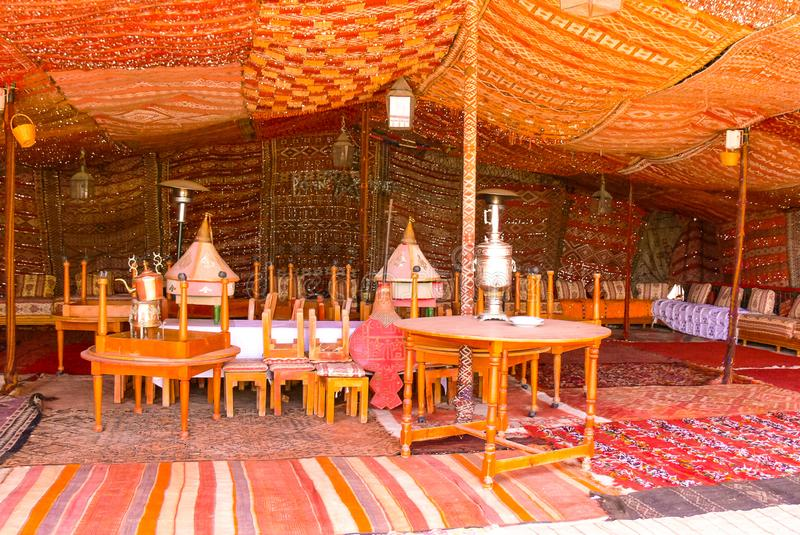 Tribe decoration tent in Morocco royalty free stock images