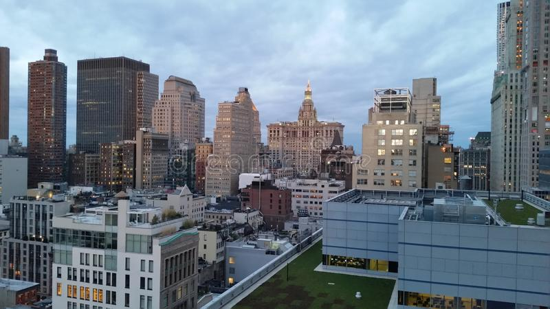 Tribeca And Downtown Skyline 14. These photos were taken in Lower Manhattan stock photo