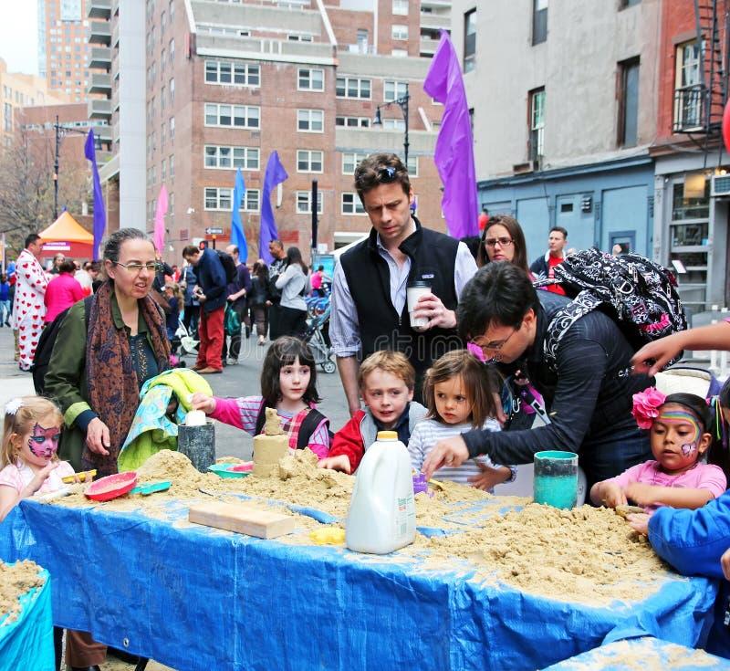 Tribeca familjfestival arkivbild