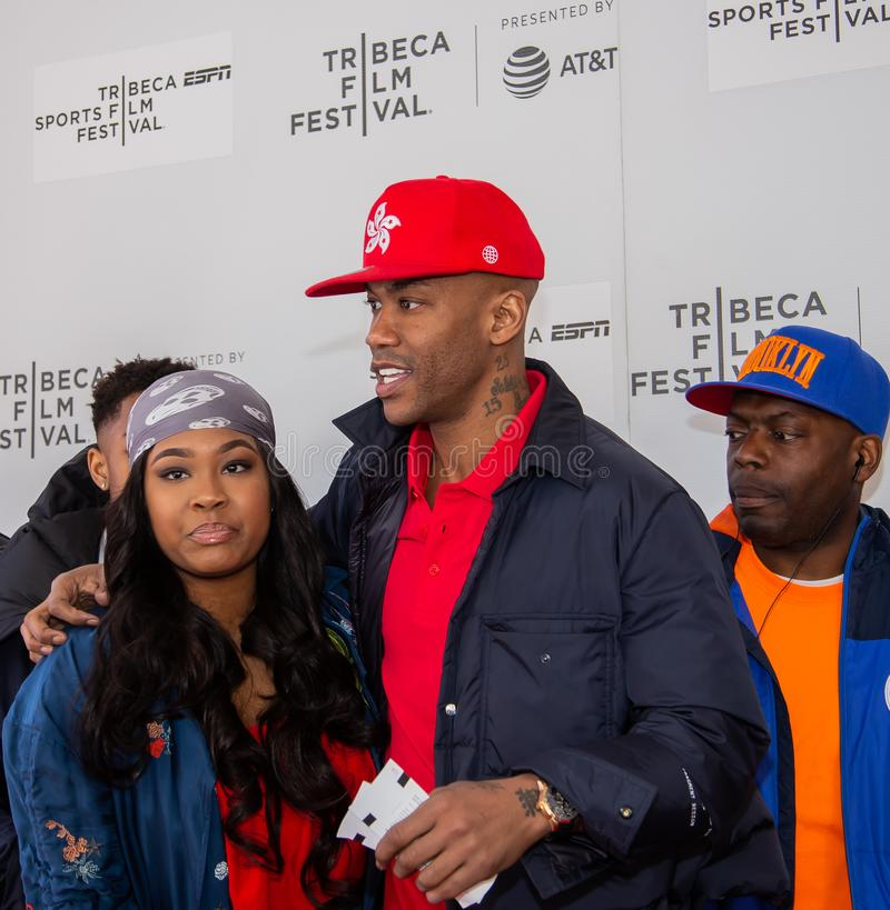 Tribeca festiwal filmowy - czerwony chodnik przed premiera dokumentalny ?dzieciak od Coney Island ? obrazy stock