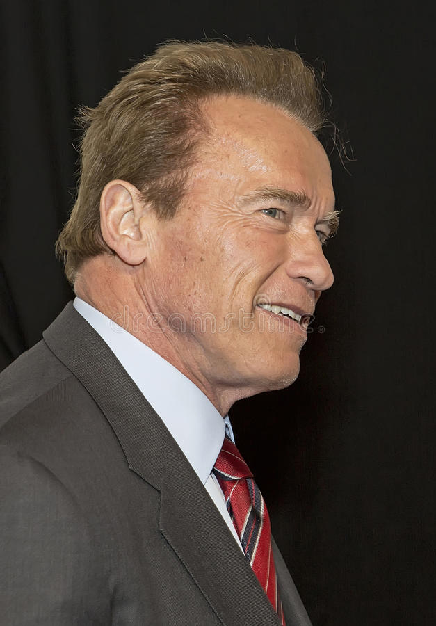 2015 Tribeca Film Festival. Action-style actor and former GOP California governor Arnold Schwarzenegger arrives on the red carpet for the world premiere of stock photo