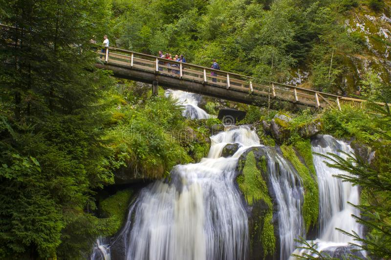 Triberg Falls in Black Forest region, Germany royalty free stock photography
