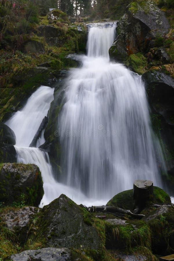 Triberg, la cascada más alta de Alemania foto de archivo