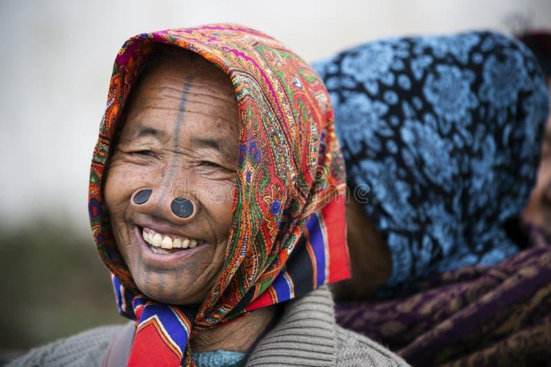 Tribo de Apatani imagem de stock royalty free