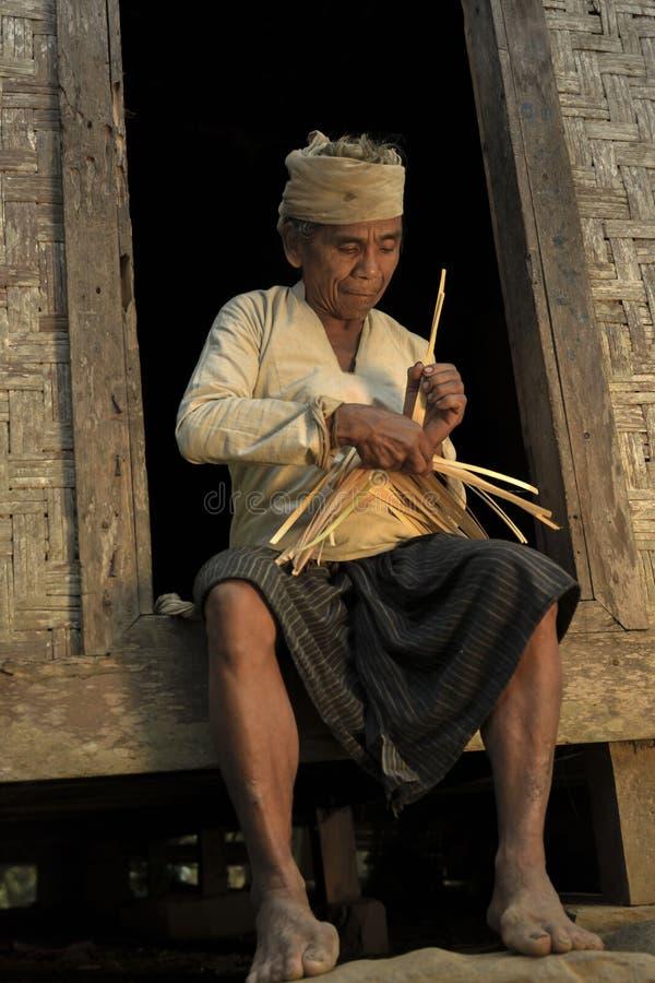 Tribo de Baduy fotografia de stock