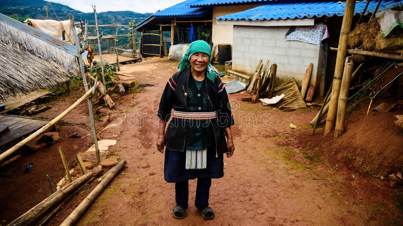 Tribo do sorriso de Akha, Chiang Rai fotos de stock royalty free