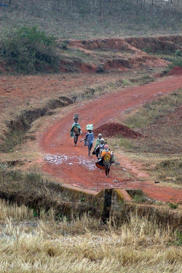 Tribo primitivo em India fotografia de stock royalty free