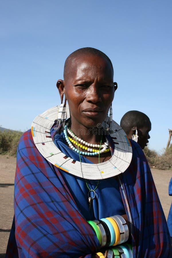 Tribo principal dos homens de África, Mara do Masai imagem de stock