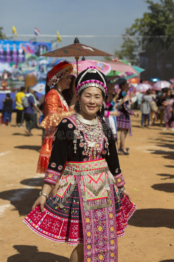 Tribos de s Hmong do ano novo ' foto de stock royalty free