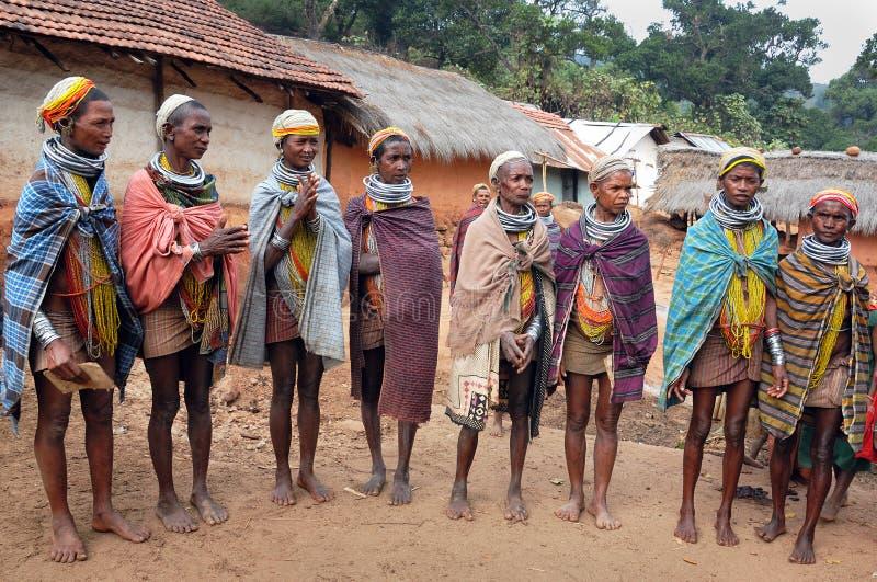 Tribos primitivos em India fotografia de stock royalty free