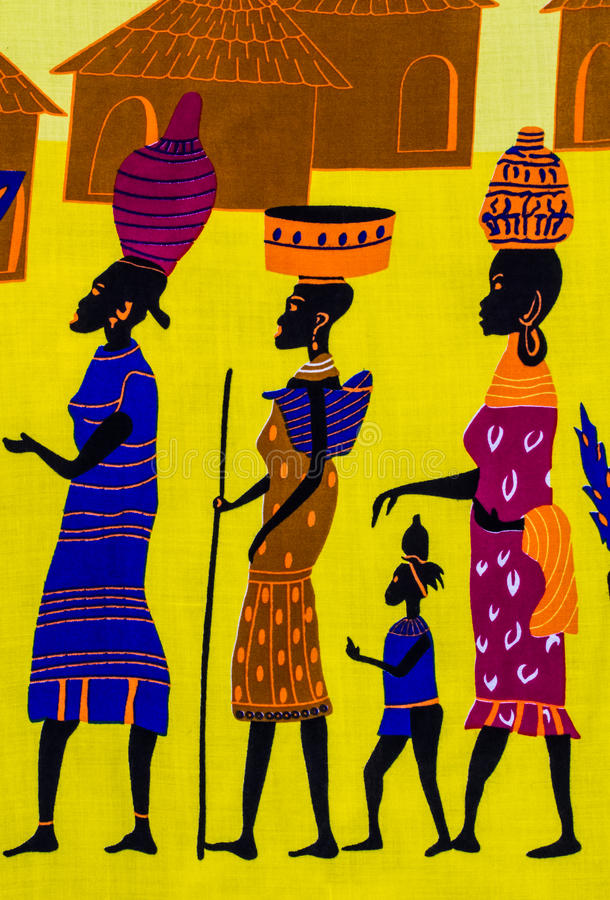 Tribu africaine illustration de vecteur