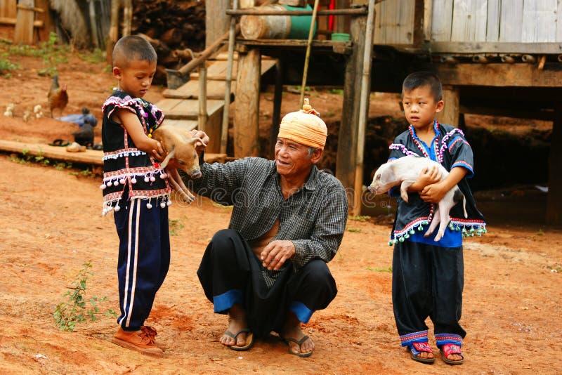 Tribu de côte de Lahu photographie stock libre de droits