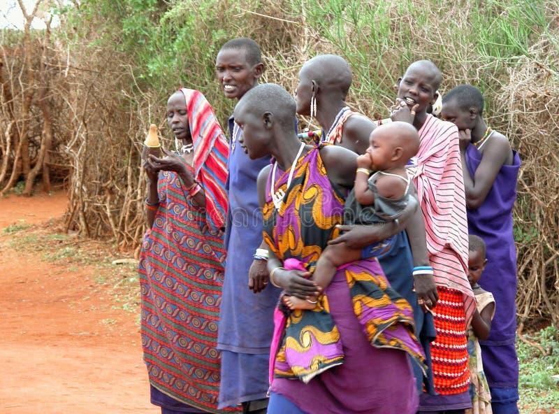 Tribu de masai images stock