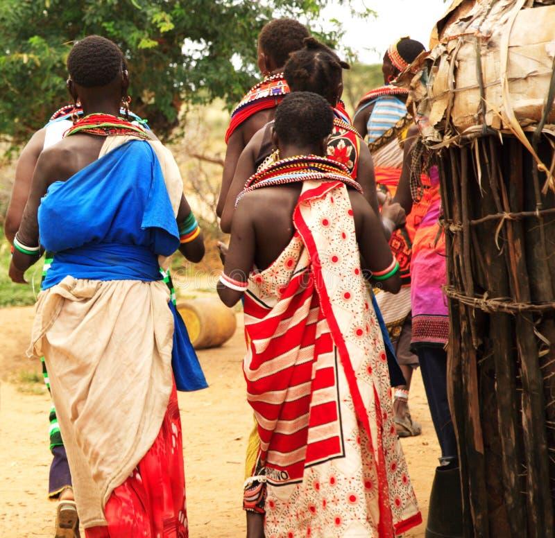Tribu de Samburu imagen de archivo