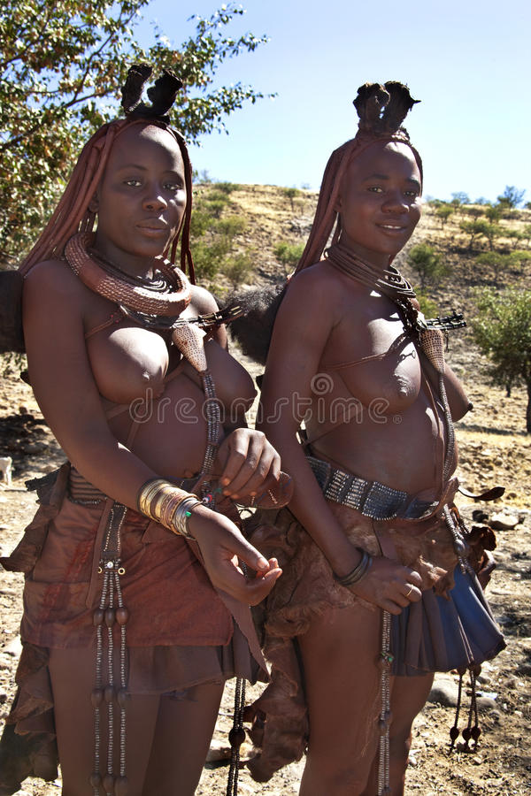 Tribu nomade de Himba - Namibie photographie stock libre de droits